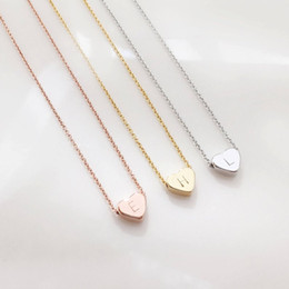 $enCountryForm.capitalKeyWord Australia - Heart shaped letter necklace for women gold silver chain Smalll love NECKLACE PENDANT in collar Bohemian Chocker necklace jewelry