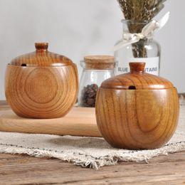 $enCountryForm.capitalKeyWord NZ - Natural Wood Seasoning Sauce Pot with Lid Spice Salt Pepper Jar Wooden Tableware Kitchen Supplies