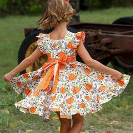 infant tutu pageant dresses UK - Newborn Infant Kids Baby Girls Dress Summer Sleeveless Halloween Pumpkin Party Pageant Tutu Dresses Sundress Clothes 1-6T