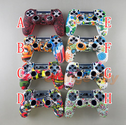 Camouflage Case Graffiti Studded Dots Silicone Rubber Gel Skin for Sony PS4 Slim Pro Controller Cover Case for Dualshock4 on Sale