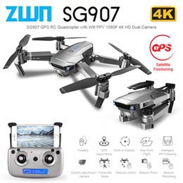 Dron camera hD online shopping - ZWN SG907 SG901 GPS RC Quadcopter with Wifi FPV P K HD Dual Camera Optical Flow Drone Follow Me Mini Dron VS SG106 E502S T191016
