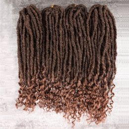 $enCountryForm.capitalKeyWord NZ - 2X Mambo Organic Goddness Locs 18inch Crochet Braids Hair Extension 24 Roots Wavy Faux Locs Style Braid for Black Women
