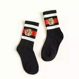 $enCountryForm.capitalKeyWord UK - Tiger head embroidery men women unisex socks classic striped men cotton sock street style skateboard stockings black white size 36-44