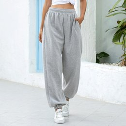 Discount wide leg yoga pants plus size Baggy Pencil Pants Women Plus Size Wide Leg Sweat Pants Oversized Joggers Streetwear High Waisted Trousers Casual Yoga