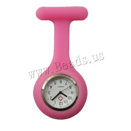 Clip Nurse Watch NZ - 2019 New Nurses Watches Doctor Portable Pocket Fob Watch Brooches Silicone Tunic Batteries Medical Nurse Quartz Watch With Clip
