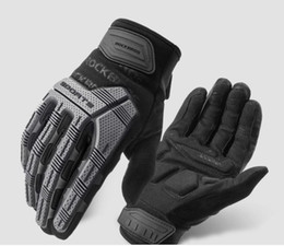 rock leather gloves Australia - Rock Brothers riding gloves full finger motorcycle bike electric car locomotive long finger male warm spring and autumn winter