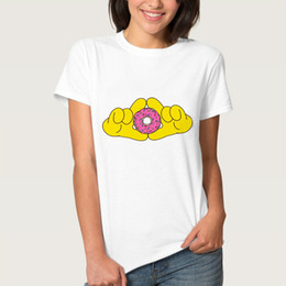 $enCountryForm.capitalKeyWord Australia - Photograph t shirt Donut camera short sleeve tees Take a picture gown tops Fadeless print clothing Pure color colorfast modal Tshirt