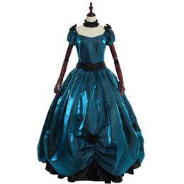 2e9ffafc2 Disfraces de época victoriana Retro Vintage Gótico Lolita Nudo del arco  Renacimiento Elegante Fiesta de baile Fiesta de noche Vestido de fiesta  Rojo   Azul