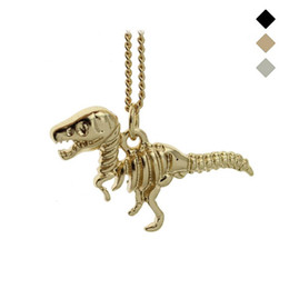 "sweet 16 gifts Australia - Trusta New Fashion Gold Black Bronze Tone Jewelry Dinosaur Pendant 16"" Short Necklace Birthday Gift For Sweet Heart Girl EG018"
