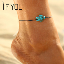 anklet NZ - IF YOU Vintage Animal Turtle Bracelet Anklet Foot Jewelry Women Ankle Leg Summer Anklets Jewelry Chain Bracelet Fashion