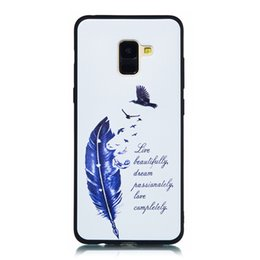 Matte Box Case Australia - For Samsung Galaxy A8S A8 2018 A8 Plus Case Cover Soft TPU Matte Painting Owl Feather formula Color dog Boxing Cat Easy bear