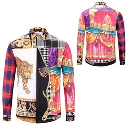 China Fashion Luxury Men's Dress Shirts Mens Business Designer Shirts Harajuku Casual Shirt Men Long Sleeved 3D Medusa Fancy Slim Fit Shirts Tops cheap leopard print long tops suppliers