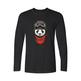 be059365c9705 Hot Fashion Panda Black Cotton T Shirt Men Funny White Long Sleeve T Shirt  Panda Men T Shirt Tops Xxs-3xl