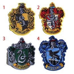 """Discount iron harry potter patch - VP-37 Harry Potter four colleges """"Gryffindor"""" Embroidery military Pacthes badges double-sided affixed Army pat"""