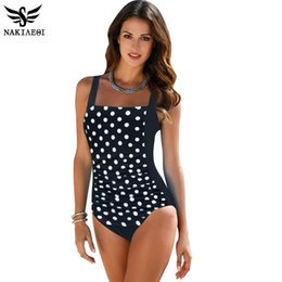 fcbb020140 Nakiaeoi New One Piece Swimsuit Women Plus Swimwear Large Size Vintage  Retro Padded Beach Bathing Suits Swim Wear 4xl Q190518