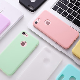 $enCountryForm.capitalKeyWord NZ - Hot Original Soft Silicone Case for iPhone xs max xr 6 S 6S 7 8 Plus 5 5S X 10 6Plus 6SPlus 7Plus Cute Candy Anti-knock rubber Cover