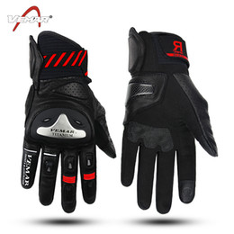 Gloves Leather Fingers Off Australia - Wholesale VEMAR carbon fiber leather racing off-road gloves riding gloves motorcycle full-finger gloves cycling anti-fall gloves 4 colors
