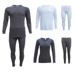 2pcs Men Women Autumn Winter Warm Thick Thermal Underwear Sets on Sale