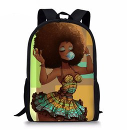 Art Canvas Prints Australia - Black Art Afro Lady 3D Printed Backpack Women Schoolbag Back Pack Leisure Ladies Girls Backpacks Teens Travel Bags for Female Male ZS62