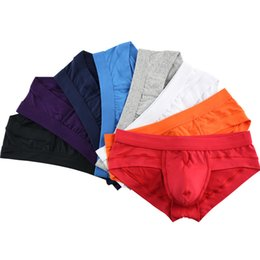 Modal u pouch online shopping - 10pcs Men Modal Briefs Male Low Waist Sexy Underwear Underpants U Convex Pouch Boy Breathable U Convex Pouch Boy Panties