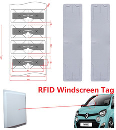 $enCountryForm.capitalKeyWord Australia - Blank White Alien Higgs3 9654 Tag With Cut Line EPC Global Class gen2 Tamper Proof RFID Stickers for Car Windshield Sticker 1000pc lot DHL