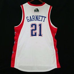100% Stitched  21 Kevin Garnett 2004 All Star Jersey Mens White Vest Size  XS-6XL Stitched basketball Jerseys Ncaa c9bb71040