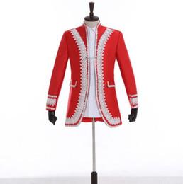 Punk Style Suit NZ - Watch European court blazer men suits designs jacket mens stage singers clothes dance star style dress punk rock masculino homme