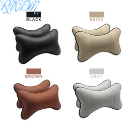 ibiza car Australia - 2X Car seat Neck Pillows Headrest For SEAT Ibiza Leon Toledo Arosa Alhambra Exeo Supercopa Mii Altea Cordoba