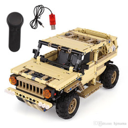 suv remote control car UK - Yeshin 13009 Military Toys Series The Military SUV Car Set Building Blocks Bricks Remote Control Car Kids's Toys Christmas Gifts