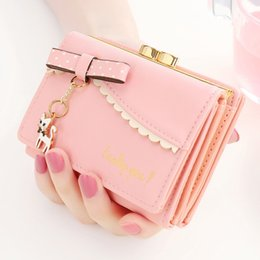 $enCountryForm.capitalKeyWord Australia - Women Purse Money Bag Cat Pendant Wallet Card Coin Synthetic Leather Hasp Cartoon Cute Holders Zipper