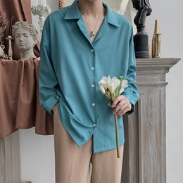 mens long cuff shirts Canada - 2019 Men's Long Sleeve Hawaiian Shirt Solid Color French Cuff Mens Fashion Clothes Shirts Camisa Masculina Plus Size M-2XL CX200620