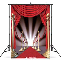Backgrounds Portrait Photography Australia - red curtain carpet Vinyl photography background for portrait children baby shower new born backdrop photo shoot photocall