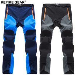 trekking gear 2019 - ReFire Gear Summer Outdoor Sport Pants Men Quick Dry Waterproof Breathable Hiking Trousers Elastic Climb Trekking Campin