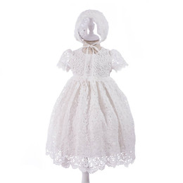 Cotton Newborn Gowns Australia - Baby Girl Clothes baby girl baptism gown christening dress newborn baby girl designer clothe Wedding Dresses first birthday dresses A3210