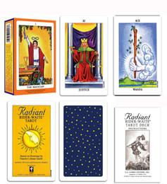 Vente en gros 6 styles Tarots Witch Rider Smith Waite Shadowscapes Cartes de jeu de plateau de tarot avec boîte colorée Version anglaise