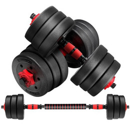 Wholesale NEW Adjustable Dumbbell Fitness Workouts Dumbbells Weights Tone Your Strength Barbell Outdoor Sports Fitness Equipment ZZA2229