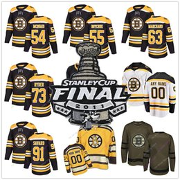 bc4233853 All Stitched 2011 Stanley Cup Jersey Hockey Boston Bruins Adam McQuaid  Johnny Boychuk Brad Marchand Michael Ryder Marc Savard