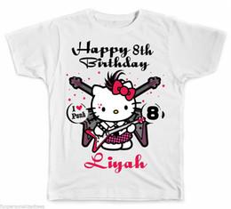 7c32985b1 Personalized Rock and Roll Hello Kitty Birthday T-Shirt 3Men Women Unisex  Fashion tshirt Free Shipping Funny Cool Top
