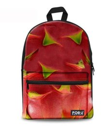 kids backpacks woven Australia - 3D Fruit School Bags For Boys Girls Kids Teenagers Big Capacity Travel Backpack For Women Men Canvas New Arrivals