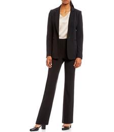 One Piece Pant Suits Women UK - Custom Made Black One Button Cool Girl Women's Pants Suits Boyfriend Normcore Suits Office Lady 2 Piece Jacket Pants