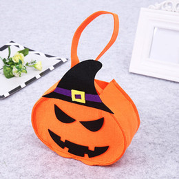 $enCountryForm.capitalKeyWord Australia - Halloween candy bag little purse pumpkin candy hand bag mini purses childern Halloween purses candies bags