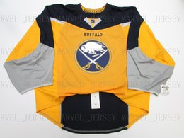 d5e0849c36c Cheap custom BUFFALO SABRES JERSEY GOALIE CUT 58 stitch add any number any  name Mens Hockey Jersey