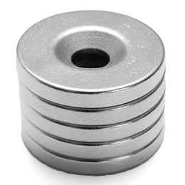Hole Block Magnets Australia - 5Pcs Strong Circular Disc Magnets 20mmx3mm Hole 5mm Rare Earth Neodymium