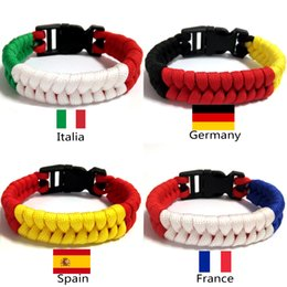 $enCountryForm.capitalKeyWord Australia - Italy Germany Spain France survival paracord flag bracelet bangles football fans gifts