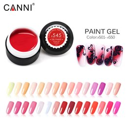 uv cured paint Canada - Nail Art Gel Paints Color 501-560 Soakoff UV LED Lamp Curing 5ml 141 Colors Nail Gel Lacquer Varnish Painting