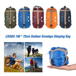 Wholesale Lixada cm Outdoor Envelope Sleeping Bag Camping Travel Hiking Multifunction Ultra light g