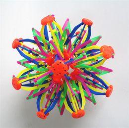 $enCountryForm.capitalKeyWord Australia - 28cm Big Shrinking Ball Flowering Telescopic Ball Toy Magic Colorful Flower Balls Becoming Bigger And Smaller Gift For Kids