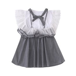 girls dress 16 years 2019 - Girls Dresses 2019 New Cotton Cute Solid Short Sleeve Princess Girl Clothing Gray Girl Kids A-line Dress for 4-16 Years