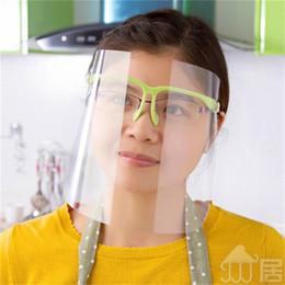 Segurança Máscara Protetora Transparente Com Máscaras protetor facial Óculos armação de plástico Anti-embaciamento Anti Saliva respingo completa Boca Poeira 5 68jt E1 em Promoção
