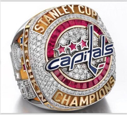 Wholesale High Quality 2018 Washington Capitals Stanley Cup Championship Ring Men gift SIZE 8-14